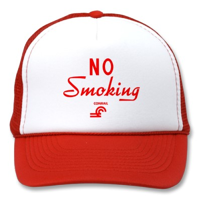 Conrail No Smoking Sign hat