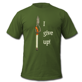 I give up smoking tee shirt