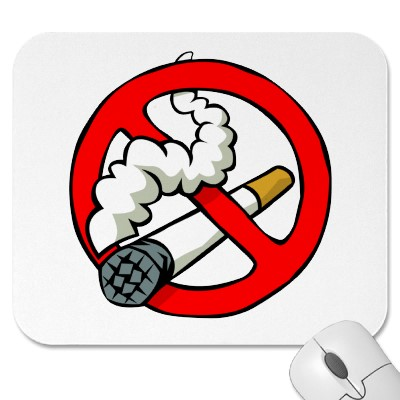 Mousepad with cute no smoking sign